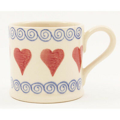 BRIXTON POTTERY NEW HANDMADE 250ml POTTERY MUG - Hearts