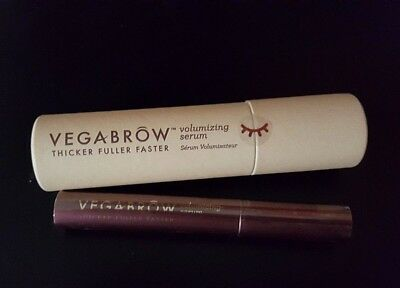 VEGABROW Volumizing Gel Thicker Fuller Brows NIB..MSRP $79.95 + FREE SAMPLE!