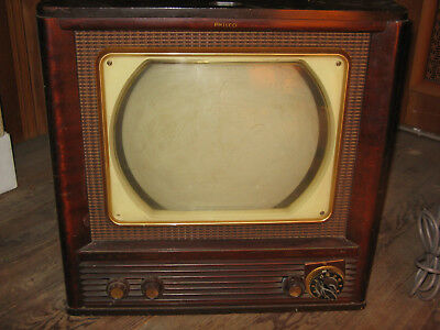 Vintage 1950 Philco Model 50T1404 12 Inch TV Television For Parts Or Repair