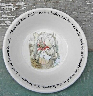 Peter Rabbit Child's Cereal Bowl The Baker Wedgwood England