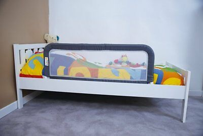 Safety Bed Rail For Babies Foldable And Easy To Carry - Dark Grey