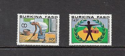 ENVIRONMENT - Burkina Faso- 1987 set of 2- (SC 807-8) -MNH-Z246