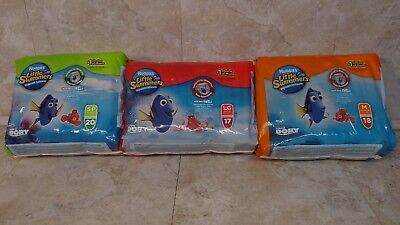 New Huggies Little Swimmers Disposable Swim Pants Sz Sm Med Large Free Shipping
