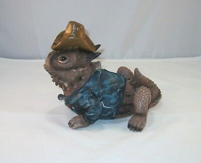 """Texas Horned Toad Decorative Coin Bank 9"""""""
