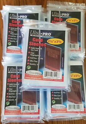 2,500 Ultra Pro Standard Soft Sports Card Sleeves 25 Packs of 100 Free Shipping!