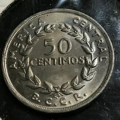 1968 Costa Rica 50 Centimos Brilliant Uncirculated Coin
