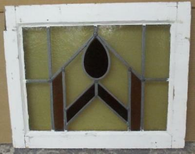 "OLD ENGLISH LEADED STAINED GLASS WINDOW Pretty Abstract Delight 20.5"" x 16.75"""