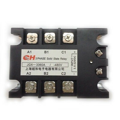 JGX-3360A 3.5-32 VDC Input 480VAC 60 Amp Output DC/AC 3 Phase Solid State Relay