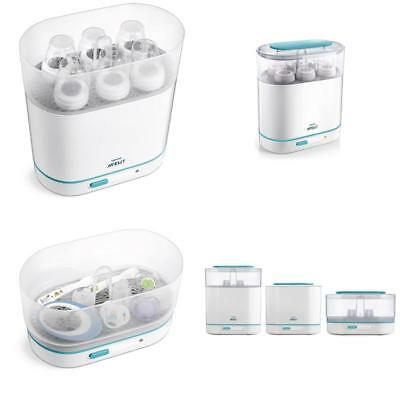 Philips Avent 3-In-1 Electric Steam Sterilizer Bpa-Free Baby Bottle Feed Clean