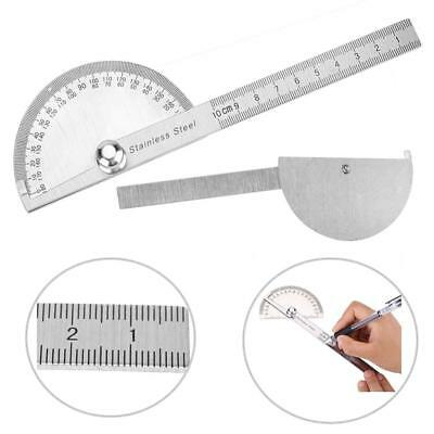 Stainless Steel 180 degree Protractor Angle Finder Arm Rotary Measuring Ruler CO