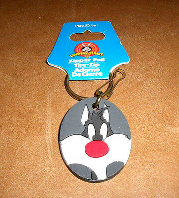 Warner Bros SYLVESTER Zipper Pull New Old Stock Vtg 1998