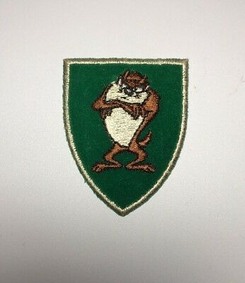"Tasmanian devil Looney Tunes Taz Warner Brothers Shield Approx 2.25"" X 3"""