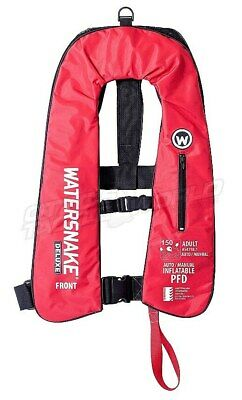 Watersnake Deluxe Auto/Manual Inflatable Life Jacket (Red) BRAND NEW at Otto's B