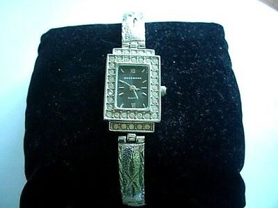 Art Deco Style Ladies Stone Encrusted Watch quartz working,come in Gift Box