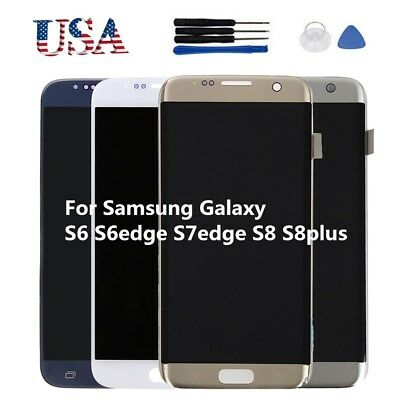 LCD Display Screen Digitizer Replacement for Samsung Galaxy S8 Plus S6 S7 edge