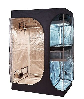 600D High Reflective 2-in-1 Propagation & Flower Grow Tent Indoor Plant Growing