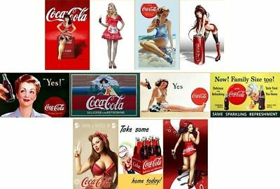 Lot 11 Vintage Classic Coca Cola Coke Fridge Magnets Gift~Set G