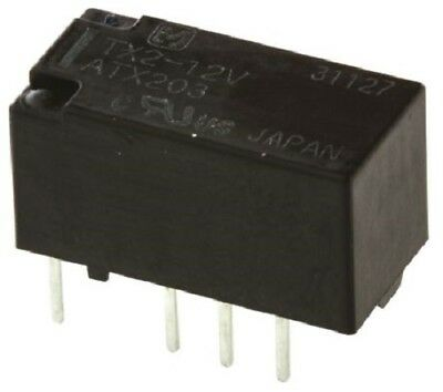 Panasonic TX212 DPDT Non-Latching Relay PCB Mount, 12V dc Coil, 2 A
