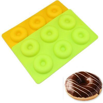 6 Cups Donut Silicone Cake Mold Baking Chocolate Candy Jelly Ice Muffin Pan LG