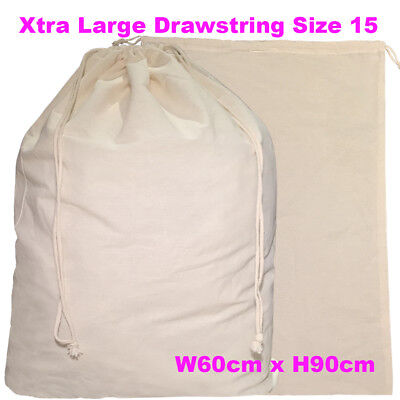 Large Calico Drawstring Bag Tote A1 Calico Bags Linen Bag H90 x W60cm  S15