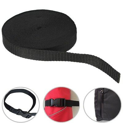 10 Meters 20mm Nylon Tape Strap For Webbing Bag Strapping Belt Craft Package DIY