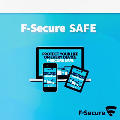 F-Secure Safe 2019 5 dispositivos 5 PC 1 año Internet Security 2018 ES / EU
