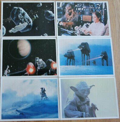Star Wars Empire Strikes Back Vintage Giant Photo Card lot of 7 different