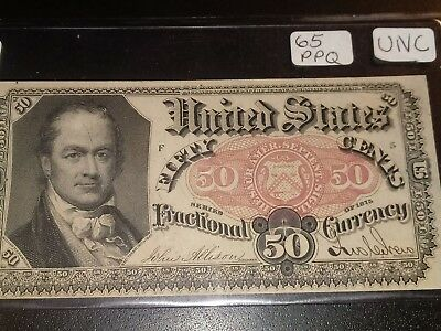 US 50c Fractional Currency Note FR 1381