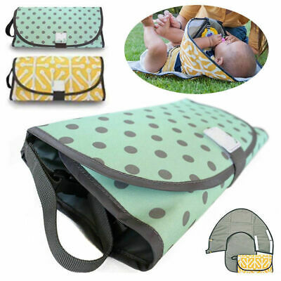 Clean Hands Changing Pad Portable Baby 3 in1 Cover Mat Folding Diaper Bag Kit