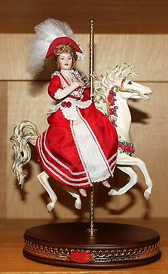 Coca Cola Carousel Lady Limited Edition Doll Franklin Mint Coke COA
