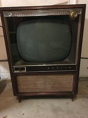 "1958 Vintage Zenith Television Model A3004R 21"" Black and White"