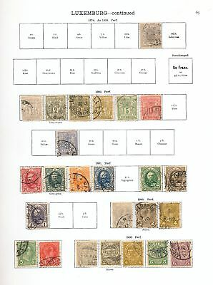 LUXEMBOURG 1850s/1930s M&U Collection 80+Items AU13440