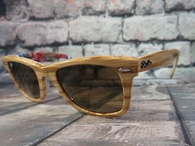 588fbde43733e4 RAY BAN WAYFARER Special Series  11 Wood   Flowers RB2140 1138 85 50 ...