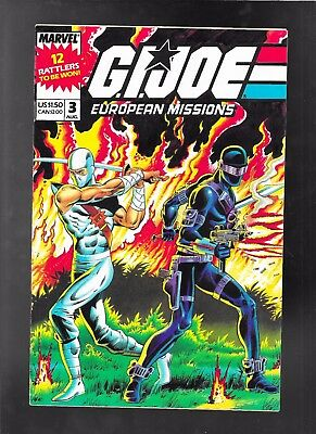GI G.I. Joe European Missions 1 2 3 4 5 1988 vf-nm 9.0 poster intact in issue 3