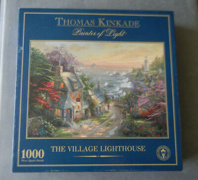 Gibsons The Village Lighthouse 1000 Piece Thomas Kinkade Jigsaw Puzzle
