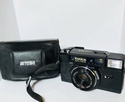 Konica C35 AF2 Hexanon 38mm F2.8 From Japan  With Case Camera