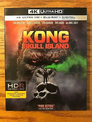 Kong: Skull Island, 4K Ultra HD, Blu-ray, Digital HD, Brand New, FAST FREE SHIP!