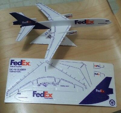 FedEx DC-10 Foam Glider w Stand sheet kit  New