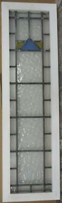 """LARGE OLD ENGLISH LEADED STAINED GLASS WINDOW Nice, Tall Geometric 13"""" x 46.25"""""""