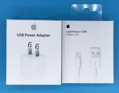 OEM Lightning USB Wall Charger Cube Cable for Original Apple iPhone 5 6 7 X iPod