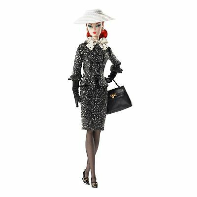 Gold Label Silkstone Barbie Black & White Tweed Suit DWF54 NEW