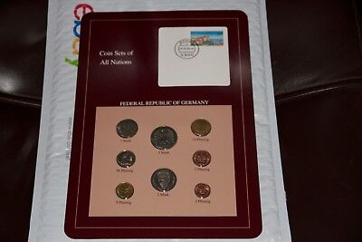 Coin Sets of All Nations GERMANY 1979 - 1989  8 Coin UNC