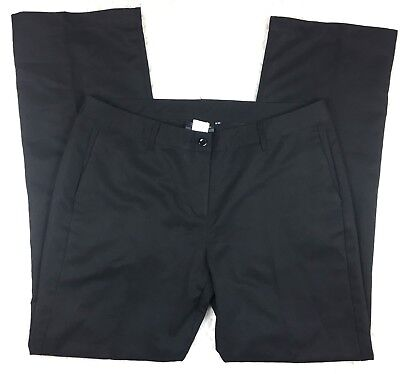 Mcdonalds Apparel Collection Black Straight Fit Work Pants Size 12 Inseam 33""