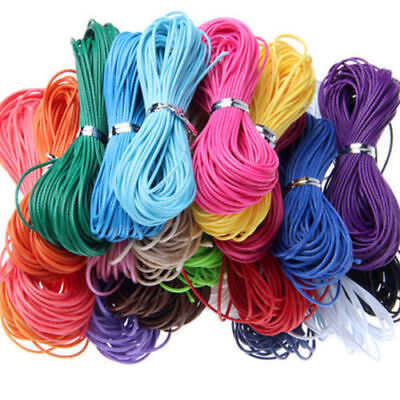 Waxed Wax Cotton Cord String Linen Thread Wire Jewelry Bracelet Making 10M 1mm