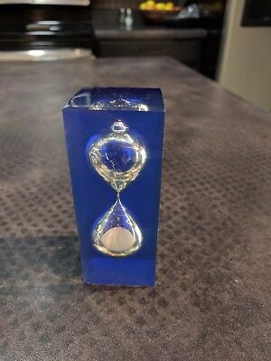 Egg Timer Hourglass 3-Minute Modern Transparent Square FREE SHIPPING