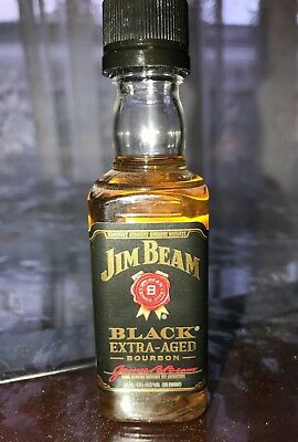 Jim Beam Bourbon Mini! Black Extra Aged! Sealed & Rare!