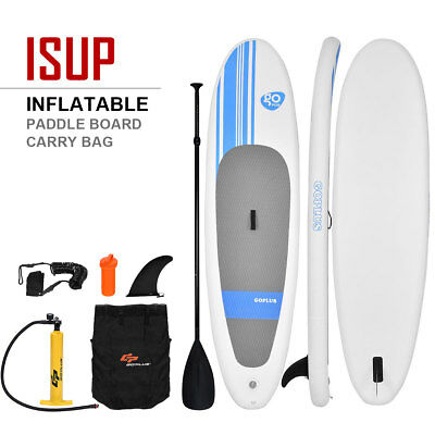 Costway Inflatable Stand Up Paddle Board SUP Kayak Surf Board Backpack Leg Leash
