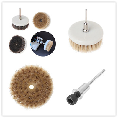 60mm Drill Powered Scrub Heavy Duty Cleaning Brush With Stiff Bristles Tools New