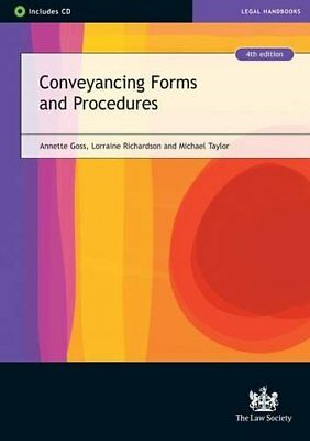 Conveyancing Forms and Procedures by Taylor, Michael Paperback Book The Cheap