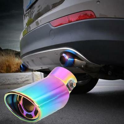 Exhaust Muffler Universal Stainless Steel Auto Car Vehicle Curved Tail Pipe ED